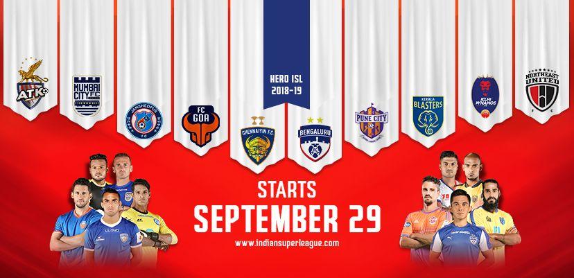 Hero ISL Fixtures 2018-19 - Indian Super League Starting ...