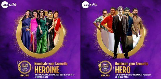 nominations for 2020 zee tamil cine awards
