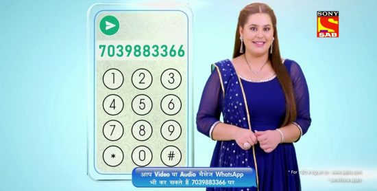 sony sab tv wahtsapp number for new year contest